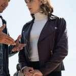 TV Series Evil Kristen Bouchard Purple Leather Jacket