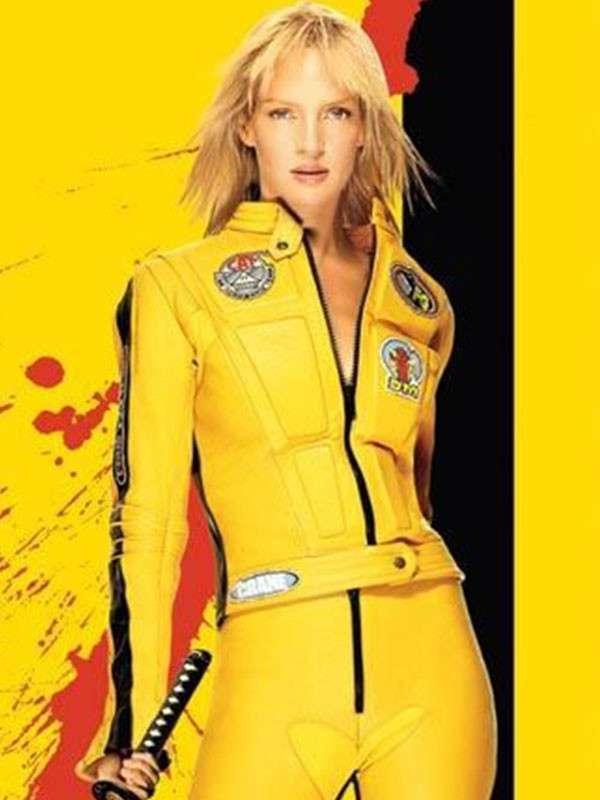 Uma Thurman Kill Bill 2 Motorcycle Jacket