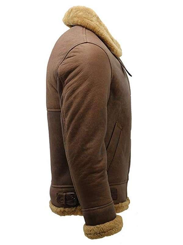 WWII RAF Flight Aviator Sheepskin Shearling Jacket