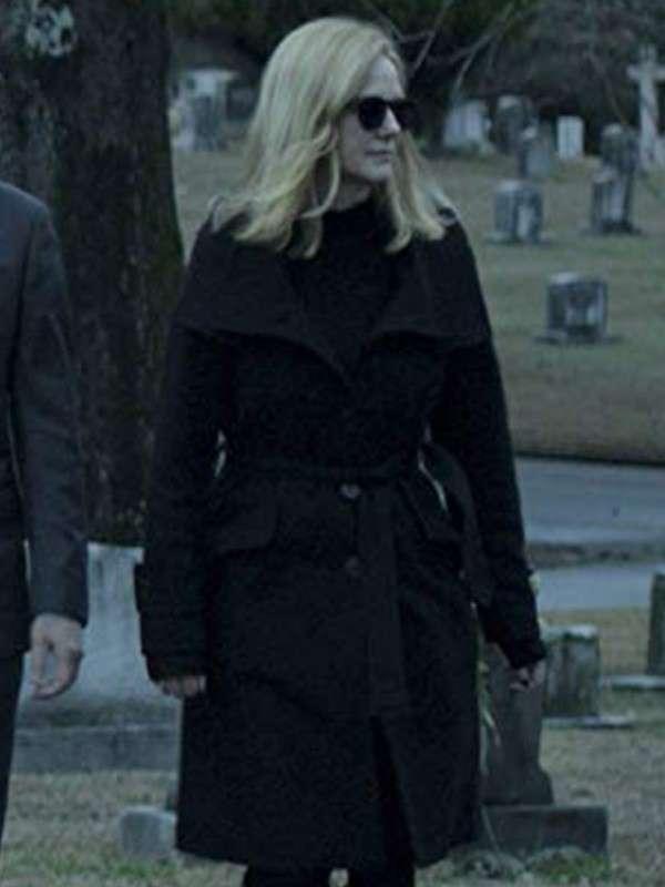 Wendy Byrde Ozark Black Wool Coat