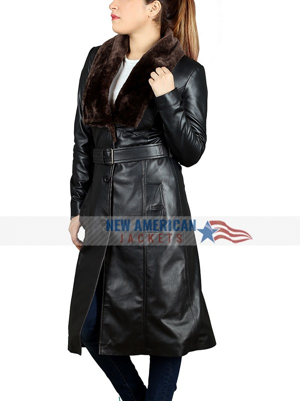 Womens Black Trench Coat