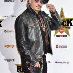Actor Johnny Depp Distressed Leather Jacket