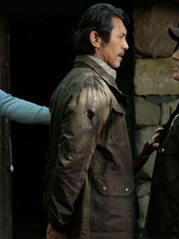 Actor Lou Diamond Upchurch Blindspot Jacket