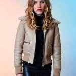 Actress Halston Sage Leather Jacket