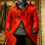 Aiden Pearce Red Trench Leather Coat