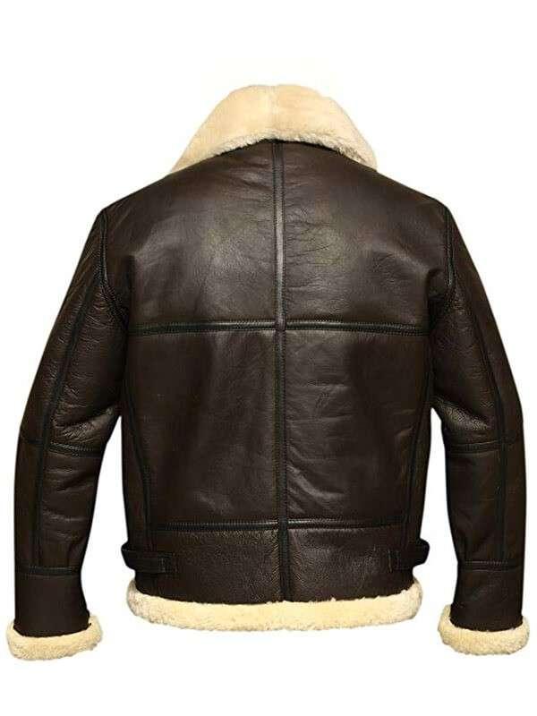 B3 Bomber Brown Aviator Shearling Jacket