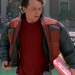 Back To The Future 2015 Marty Mcfly Red and Grey Jacket