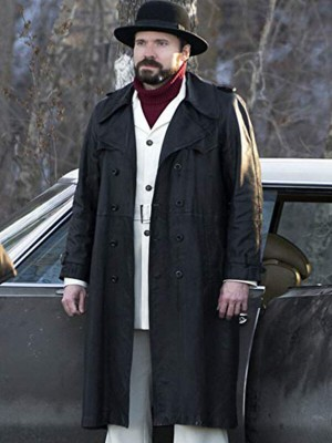 Fargo Gale Kitchen Double Breasted Leather Coat