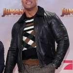 Eddie Jumanji The Next Level Leather Jacket