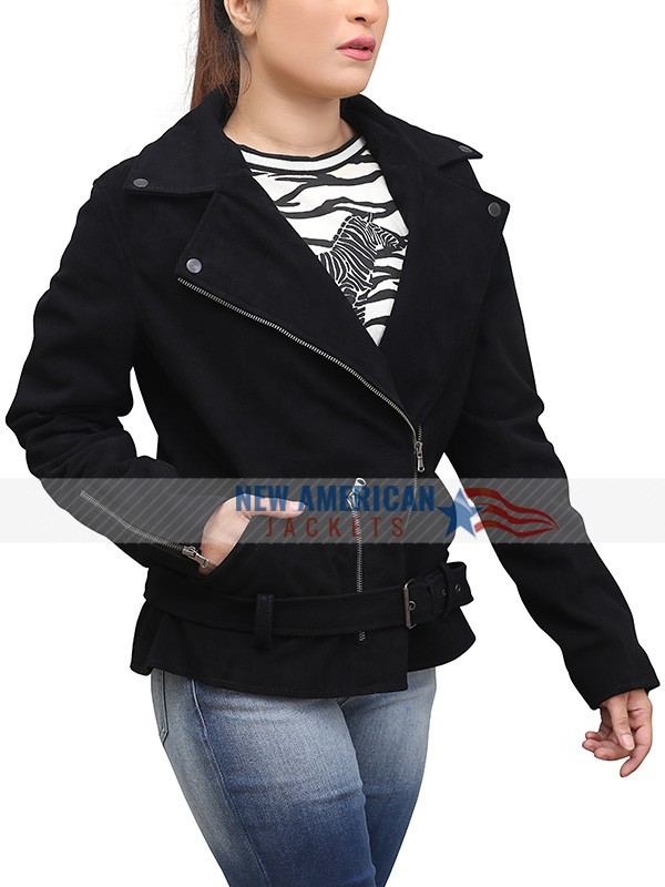 Elizabeth Keen Black Biker Jacket