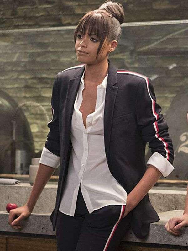 Ella Balinska Charlies Angels Black Blazer