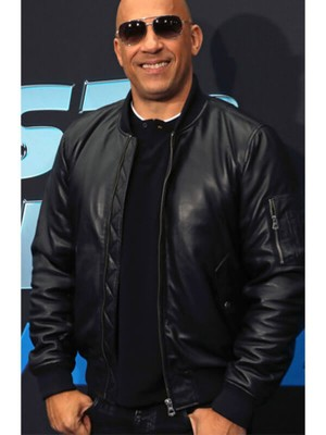 Fast & Furious Spy Racers Vin Diesel Black Leather Jacket
