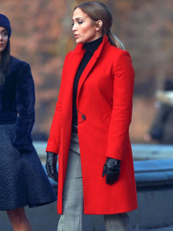 Film Second Act Set Jennifer Lopez Coat