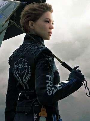 Lea Seydoux Death Stranding Fragile Leather Jacket