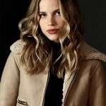 Halston Sage Shearling Leather Jacket