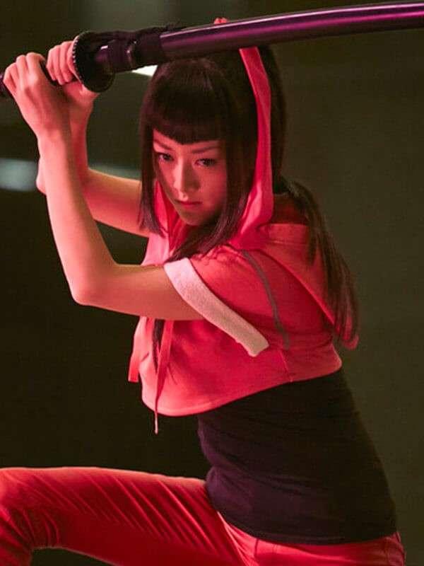 Heroes Reborn Miko Otomo Pink Hooded Jacket