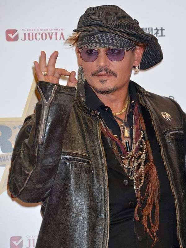 Johnny Depp Black Distressed Jacket