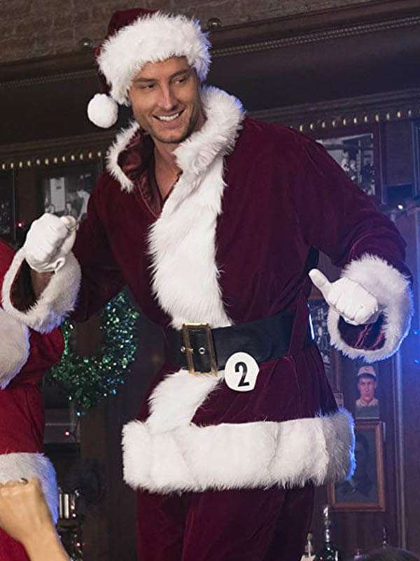 Justin Hartley A Bad Moms Christmas Red Costume Jacket