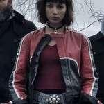 Money Heist Úrsula Corberó Cafe Racer Leather Jacket