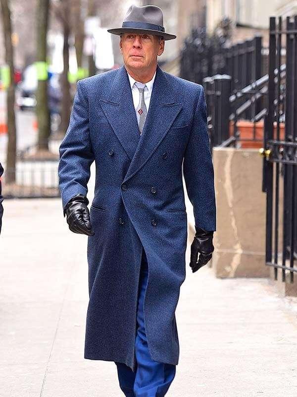 Motherless Brooklyn Bruce Willis Blue Coat