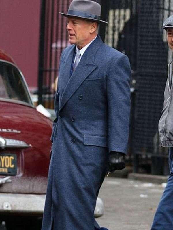 Motherless Brooklyn Frank Minna Wool Trench Coat