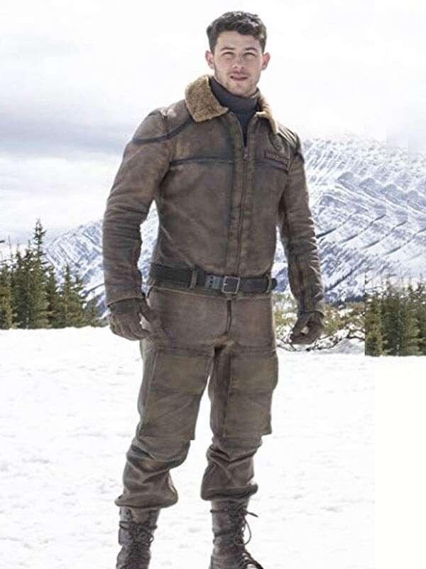 Nick Jonas Jumanji The Next Level Brown Leather Jacket