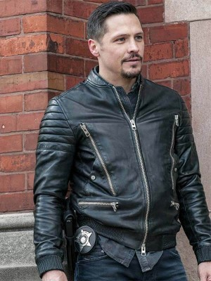 Kenny Rixton Chicago P.D Biker Leather Jacket