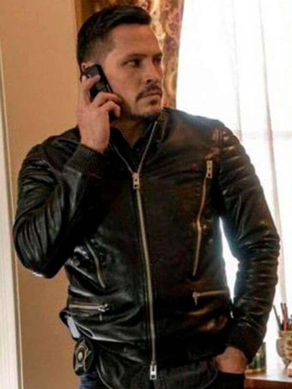 Nick Wechsler Chicago PD Black Leather Jacket