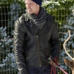 Northern Lights of Christmas Alec Wynn Leather Jacket