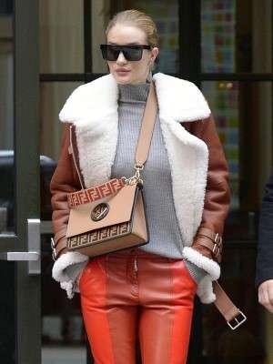 Rosie Huntington-Whiteley Shearling Jacket