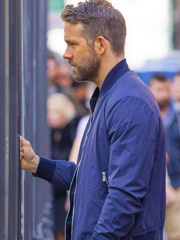 Ryan Reynolds 6 Underground One Blue Jacket