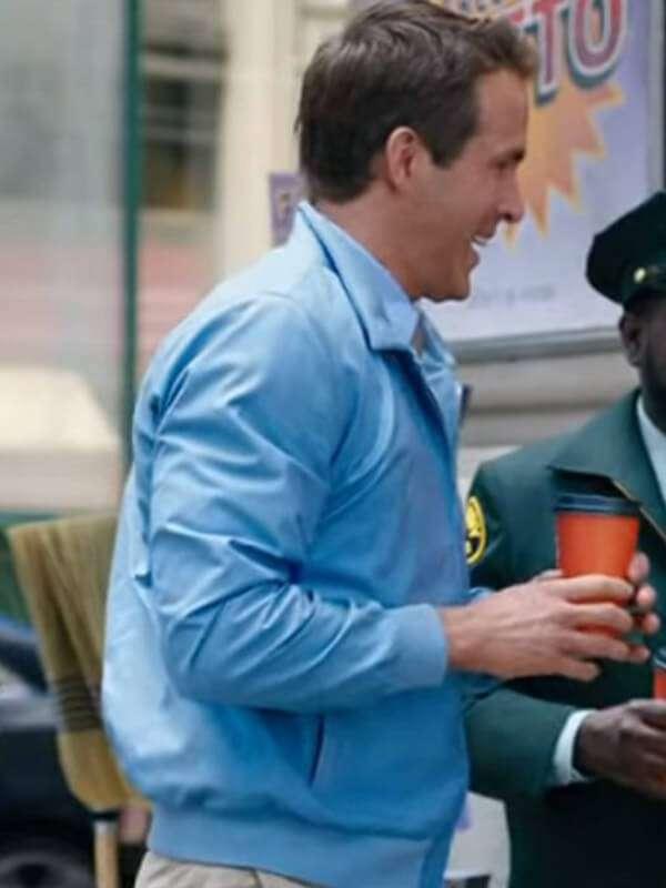 Ryan Reynolds Free Guy Blue Bomber Jacket