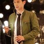 Samuel Barnett Green Leather Jacket For Mens