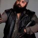 Savior Guard The Walking Dead Black Leather Vest