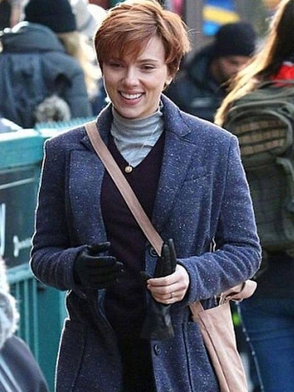 Scarlett Johansson Marriage Story Black Coat