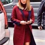 Second Act Set NYC Jennifer Lopez Coat