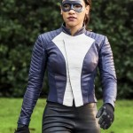 The Flash Iris West-Allen Blue Leather Jacket