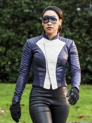 Iris West The Flash Blue Letaher Jacket