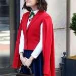 TV Series Katy Keene Lucy Hale Red Cape Vest