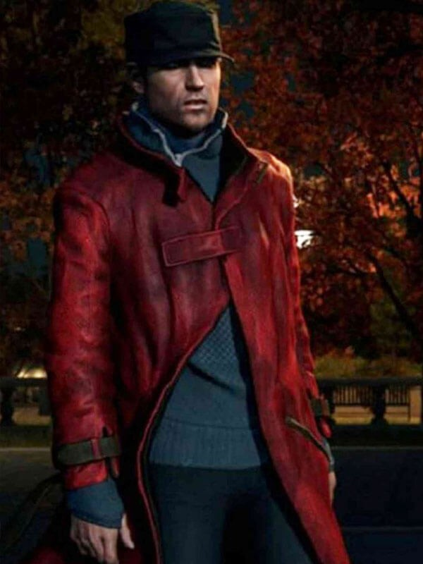 Watch Dogs Video Game Aiden Pearce Suede Leather Coat