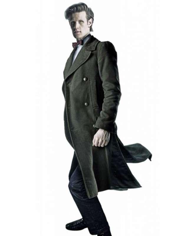 11th Doctor Who Matt Smith Trench Green Coat