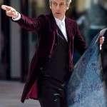 12th Doctor Who Maroon Velvet Coat