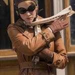 Amelia Davenport TV Series Damnation Tan Brown Leather Coat