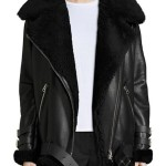 B3 Bomber Shearling Leather Jacket