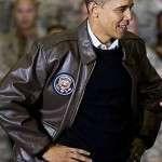 Barack Obama Brown Bomber Jacket
