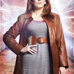 Catherine Tate Doctor Who Brown Leather Coat