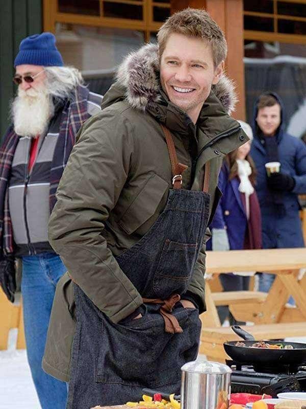 Chad Michael Murray Love in Winterland Movie Green Jacket