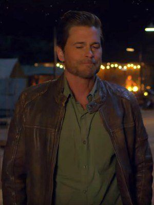 Holiday in the Wild Rob Lowe Quilted Leather Jacket