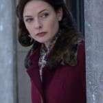 Despite the Falling Snow Rebecca Ferguson Maroon Coat
