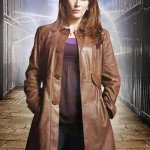 Donna Noble Distressed Brown Leather Coat